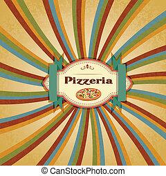 menu, pizza