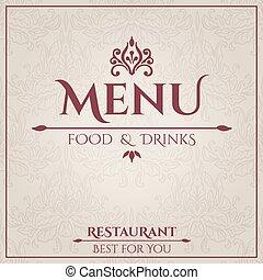 menu, ristorante, design., elegante