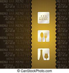 menu, ristorante, presentazione