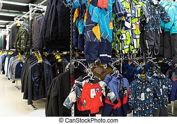 mercato, abbigliamento, selezione, grande