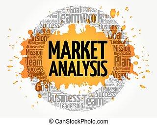 mercato, cerchio, parola, analisi, nuvola