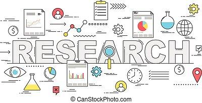 mercato, concetto, analisi, illustrazione, ricerca