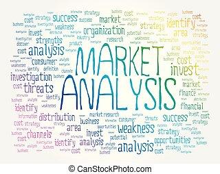 mercato, parola, analisi, nuvola