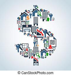 mercato proprietà, investimento, affari