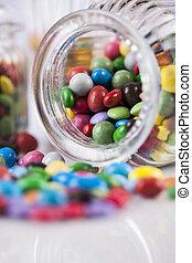 mescolato, caramella, dolci, lecca lecca, colorito
