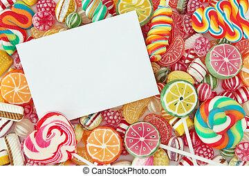 mescolato, caramella, frutta, colorito