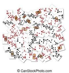 mescolato, cartelle, gioco