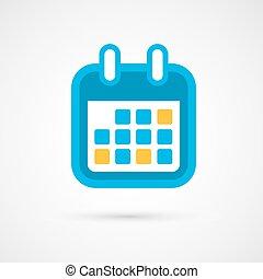 mese, calendario, -, icona, vettore