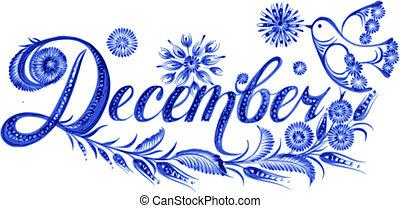 mese, dicembre, nome