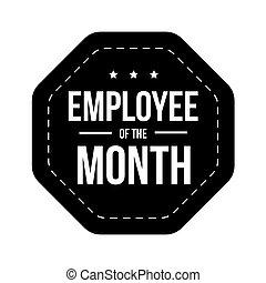 mese, distintivo, vettore, impiegato