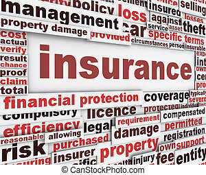 messaggio, concetto, assicurazione