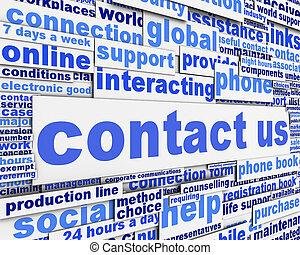messaggio, concetto, ci, contatto