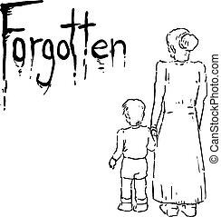 messaggio, dimenticato