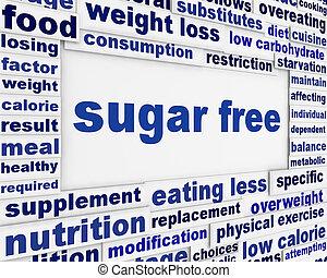 messaggio, disegno, libero, fondo, zucchero