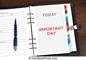 messaggio, importante, giorno