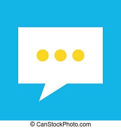messaggio, vettore, icona
