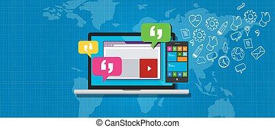 messaging, sistema, ems, impresa
