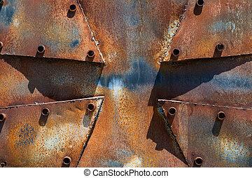 metallo arrugginito, croce, fondo