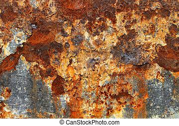 metallo arrugginito, struttura, 05