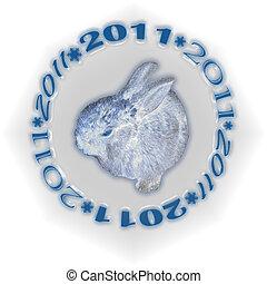 metallo, bianco, 2011, coniglio