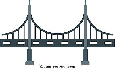 metallo, grande, stile, ponte, icona, appartamento