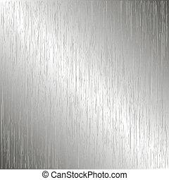 metallo, spazzolato, sagoma, fondo