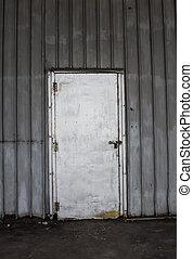 metallo, vecchio, materiale, porta, fondo