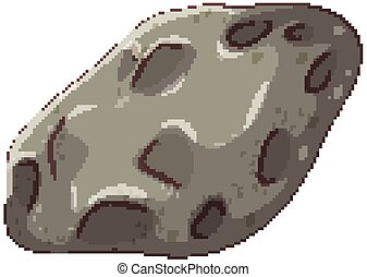 meteorite, isolato, pietra, fondo, bianco