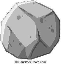 meteorite, pietra, fondo, bianco, isolato
