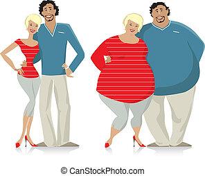mettere dieta, coppia