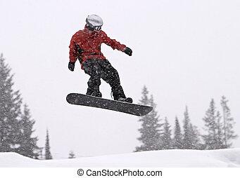 mezz'aria, snowboarder
