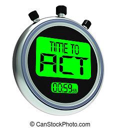 mezzi, atto, urgente, tempo, azione, messaggio