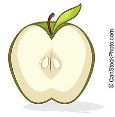 mezzo, mela verde