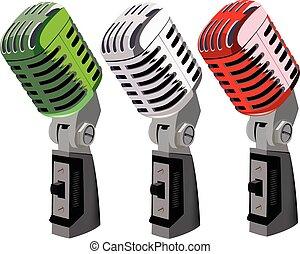 microfoni, tricolore, italiano