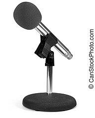 microfono, moderno, bianco