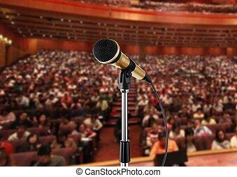 microfono, salone, seminario