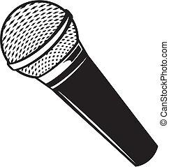 microfono, vettore, classico