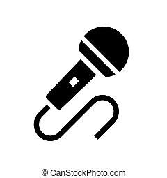 microfono, vettore, icona, audio