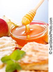 miele, macro, colatura