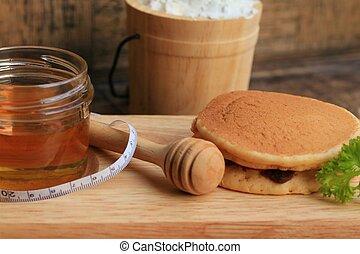 miele, saporito, frittella