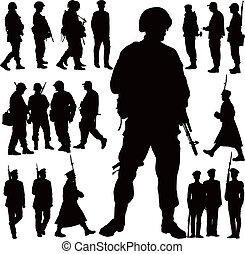 militare, silhouette