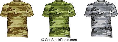 militare, uomini, camicie