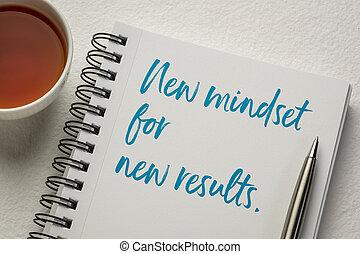 mindset, concetto, nuovo, risultati