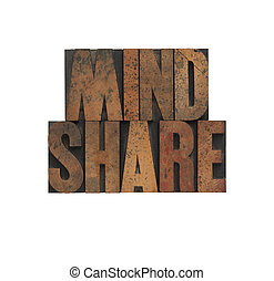 mindshare, vecchio, legno, tipo