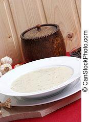 minestra, bianco, ciotola, delizioso, cavolfiore