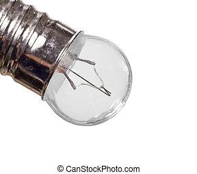 mini, lampadina, filamento, macro