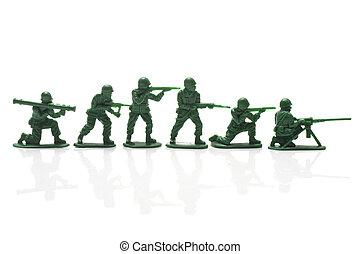 miniatura, soldati giocattolo