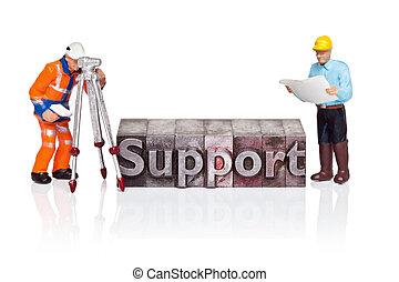 miniatura, sostegno, parola, letterpress, lavoratori