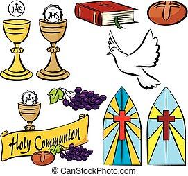 mio, comunione, santo, primo