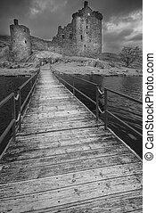 misterioso, kilchurn, scozia, castello